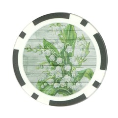 On Wood May Lily Of The Valley Poker Chip Card Guard (10 pack)
