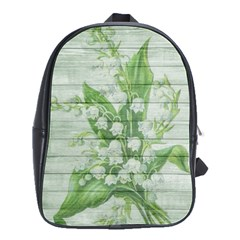 On Wood May Lily Of The Valley School Bags(large)