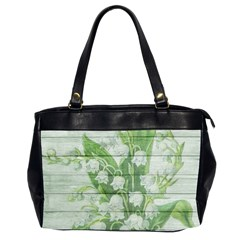 On Wood May Lily Of The Valley Office Handbags (2 Sides)