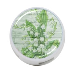 On Wood May Lily Of The Valley 4 Port Usb Hub (two Sides)