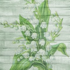 On Wood May Lily Of The Valley Magic Photo Cubes