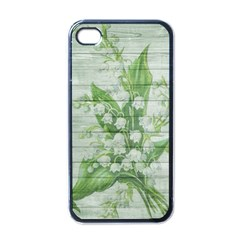 On Wood May Lily Of The Valley Apple Iphone 4 Case (black)