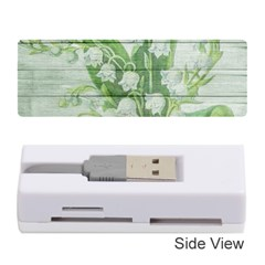 On Wood May Lily Of The Valley Memory Card Reader (stick)