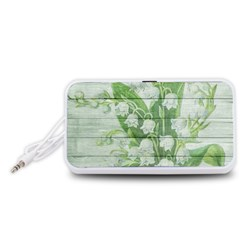 On Wood May Lily Of The Valley Portable Speaker (White)