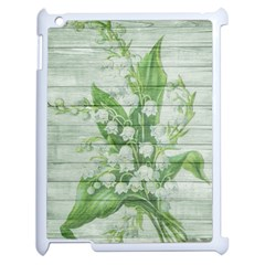On Wood May Lily Of The Valley Apple iPad 2 Case (White)