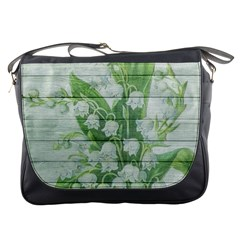 On Wood May Lily Of The Valley Messenger Bags