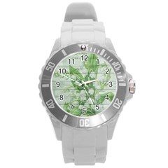 On Wood May Lily Of The Valley Round Plastic Sport Watch (l)