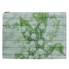 On Wood May Lily Of The Valley Cosmetic Bag (XXL)