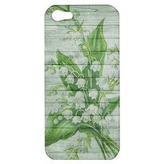 On Wood May Lily Of The Valley Apple Iphone 5 Hardshell Case