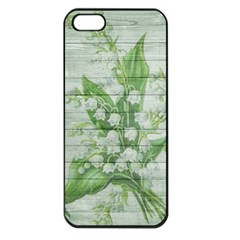 On Wood May Lily Of The Valley Apple iPhone 5 Seamless Case (Black)