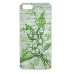 On Wood May Lily Of The Valley Apple Iphone 5 Seamless Case (white)