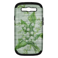 On Wood May Lily Of The Valley Samsung Galaxy S III Hardshell Case (PC+Silicone)