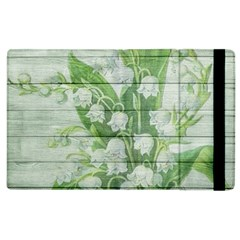 On Wood May Lily Of The Valley Apple iPad 2 Flip Case