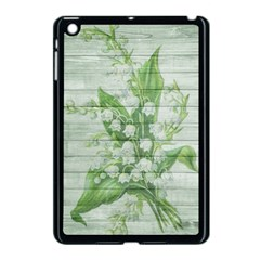 On Wood May Lily Of The Valley Apple iPad Mini Case (Black)