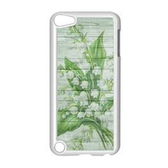 On Wood May Lily Of The Valley Apple iPod Touch 5 Case (White)