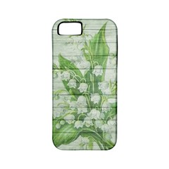 On Wood May Lily Of The Valley Apple iPhone 5 Classic Hardshell Case (PC+Silicone)