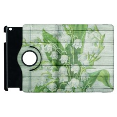 On Wood May Lily Of The Valley Apple Ipad 2 Flip 360 Case
