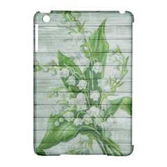 On Wood May Lily Of The Valley Apple iPad Mini Hardshell Case (Compatible with Smart Cover)
