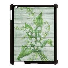 On Wood May Lily Of The Valley Apple iPad 3/4 Case (Black)