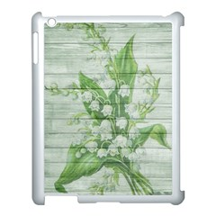 On Wood May Lily Of The Valley Apple iPad 3/4 Case (White)