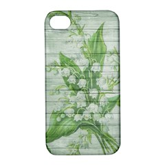 On Wood May Lily Of The Valley Apple iPhone 4/4S Hardshell Case with Stand