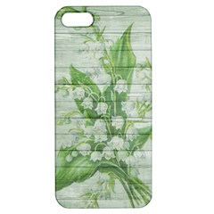 On Wood May Lily Of The Valley Apple iPhone 5 Hardshell Case with Stand