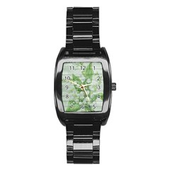 On Wood May Lily Of The Valley Stainless Steel Barrel Watch