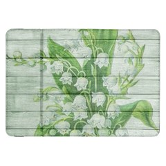 On Wood May Lily Of The Valley Samsung Galaxy Tab 8.9  P7300 Flip Case