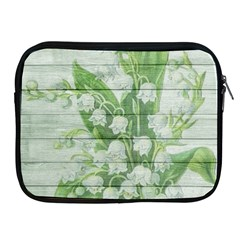 On Wood May Lily Of The Valley Apple iPad 2/3/4 Zipper Cases