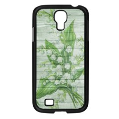 On Wood May Lily Of The Valley Samsung Galaxy S4 I9500/ I9505 Case (Black)