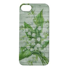 On Wood May Lily Of The Valley Apple iPhone 5S/ SE Hardshell Case