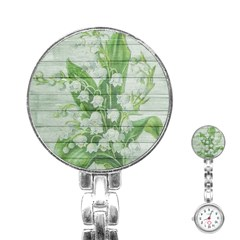 On Wood May Lily Of The Valley Stainless Steel Nurses Watch
