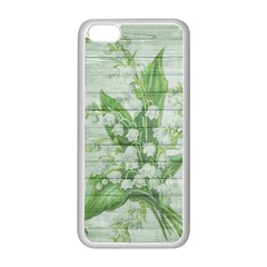 On Wood May Lily Of The Valley Apple iPhone 5C Seamless Case (White)