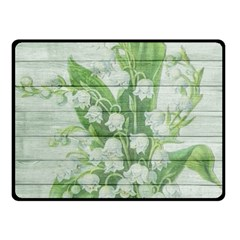 On Wood May Lily Of The Valley Double Sided Fleece Blanket (Small)
