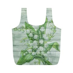 On Wood May Lily Of The Valley Full Print Recycle Bags (M)