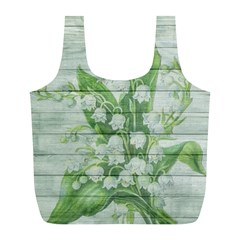 On Wood May Lily Of The Valley Full Print Recycle Bags (L)