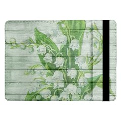 On Wood May Lily Of The Valley Samsung Galaxy Tab Pro 12 2  Flip Case