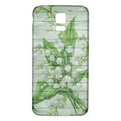 On Wood May Lily Of The Valley Samsung Galaxy S5 Back Case (White)