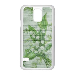 On Wood May Lily Of The Valley Samsung Galaxy S5 Case (White)