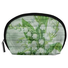 On Wood May Lily Of The Valley Accessory Pouches (Large)