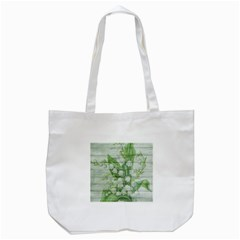 On Wood May Lily Of The Valley Tote Bag (White)