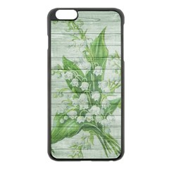 On Wood May Lily Of The Valley Apple iPhone 6 Plus/6S Plus Black Enamel Case