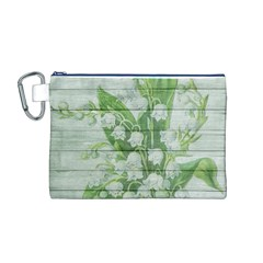 On Wood May Lily Of The Valley Canvas Cosmetic Bag (M)