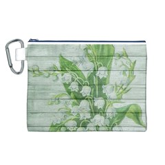 On Wood May Lily Of The Valley Canvas Cosmetic Bag (l)