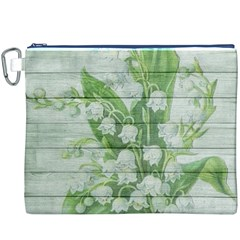 On Wood May Lily Of The Valley Canvas Cosmetic Bag (XXXL)