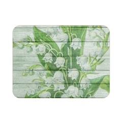 On Wood May Lily Of The Valley Double Sided Flano Blanket (mini)