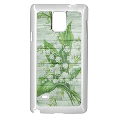 On Wood May Lily Of The Valley Samsung Galaxy Note 4 Case (white)