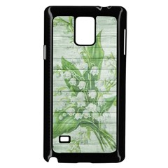 On Wood May Lily Of The Valley Samsung Galaxy Note 4 Case (Black)