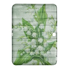 On Wood May Lily Of The Valley Samsung Galaxy Tab 4 (10.1 ) Hardshell Case