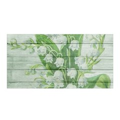 On Wood May Lily Of The Valley Satin Wrap